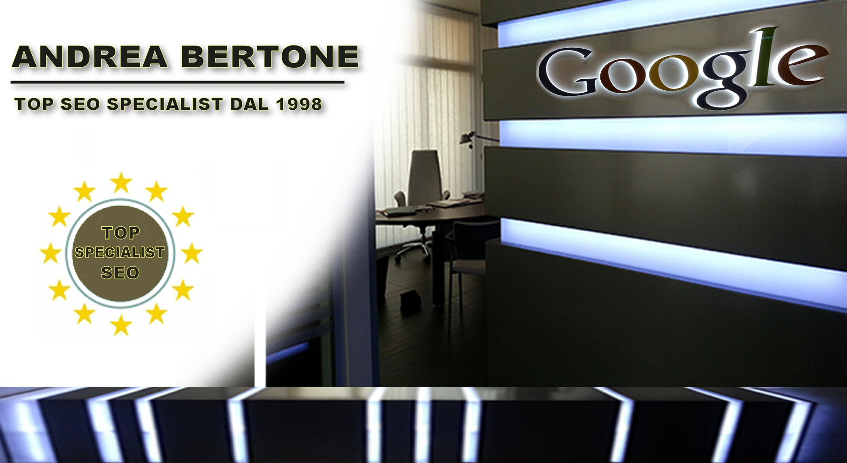 ANDREA BERTONE PRIMI SULLE RICERCHE DI GOOGLE